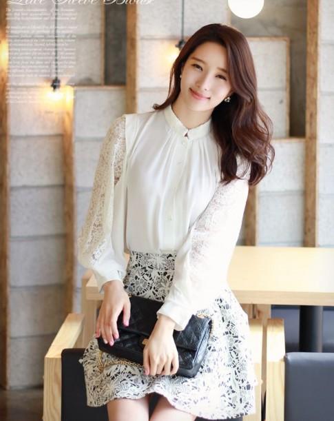 12 kiểu áo sơ mi nữ công sở đẹp Hàn Quốc sang trọng tinh tế hè 2016