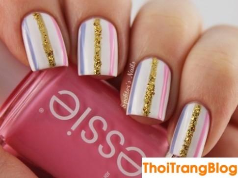 15 mau mong tay nail ke soc dep cho nang cong so yeu style don gian 2016