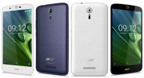 Acer ra dien thoai gia 250 USD, pin 5.000 mAh