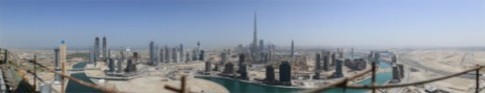 Anh panorama chup Dubai voi do phan giai 45 Gigapixel