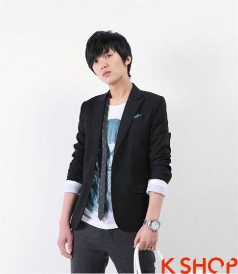 Ao khoac vest nam Han Quoc dep thu dong 2015 – 2016 sang trong lich lam
