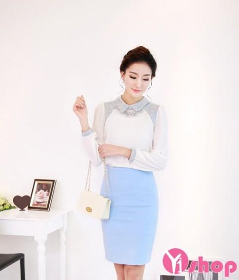 Áo sơ mi nữ đẹp phong cách Hàn Quốc cho nàng công sở thanh lịch hè 2016