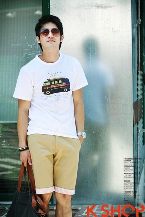 Ao thun nam dep xi kul phong cach Han Quoc cho teenboy he 2016