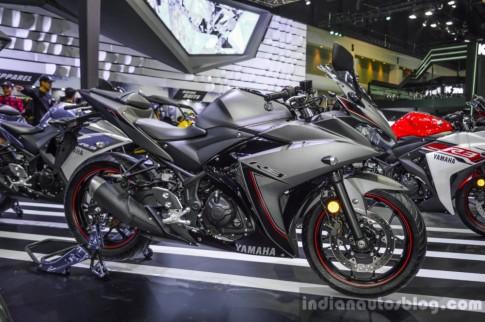 Can canh Yamaha R3 2016 phien ban xam mo tai Bangkok Motor Show
