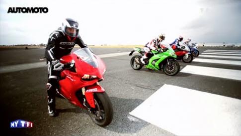 [Clip] Man test toc do giua 4 mau superbike dinh dam nhat the gioi
