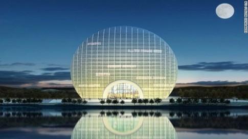 """Độc đáo khách sạn """"mặt trời mọc"""" ở Bắc Kinh"""