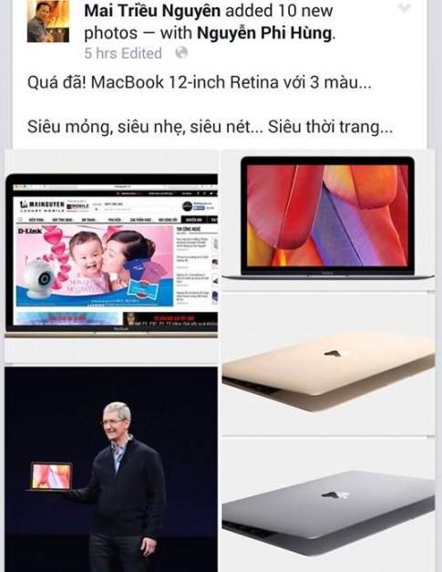 Gioi cong nghe Viet Nam soi suc vi MacBook 12 inch moi cua Apple