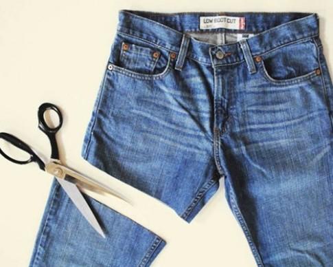 """""""Hô biến"""" chiếc quần jeans cũ trở thành chiếc quần """"không đụng hàng"""""""