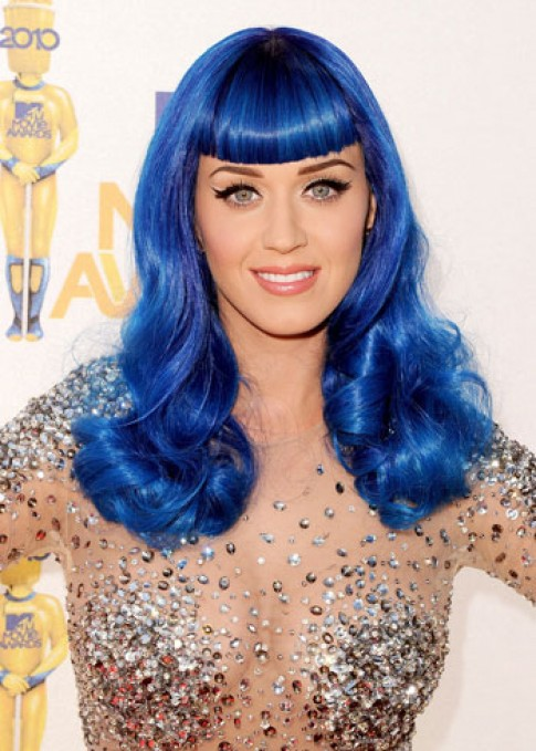 Katy Perry hoa 'tac ke hoa' voi cac mau toc nhuom