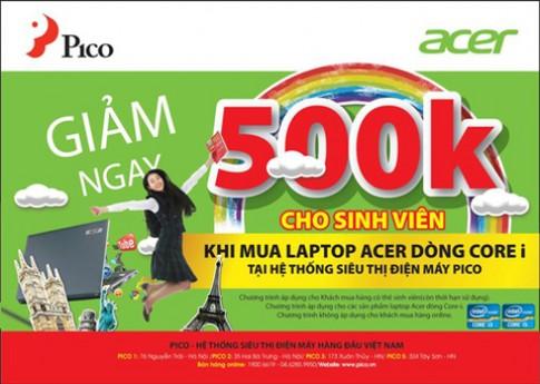 Laptop Acer gia 'hot' cho sinh vien tai Pico