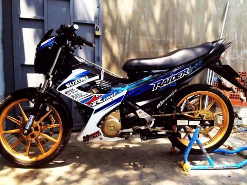 Len dan chan mam racingboy 10 cay cho suzuki raider