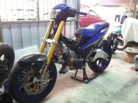 Lo dien chiec Exciter 150 do dan chan PKL cua biker nuoc ban