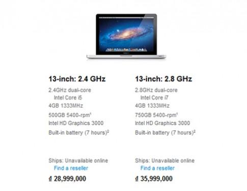 MacBook Pro nang cap, gia khong doi