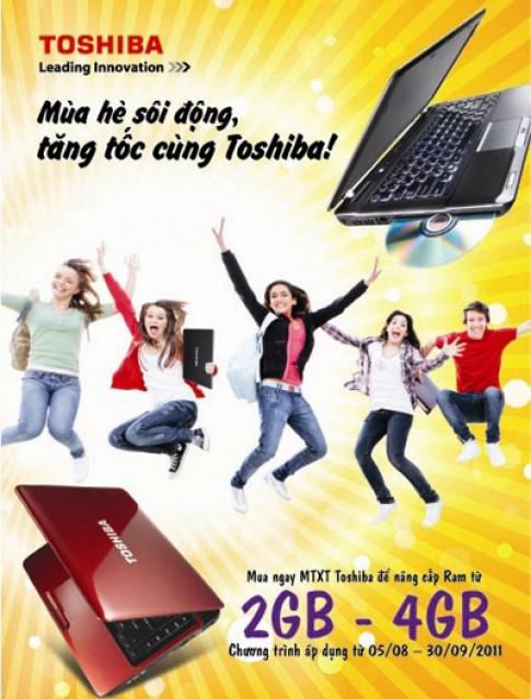 Toshiba nang cap RAM cho laptop