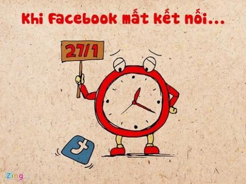 Tranh vui khi Facebook dot ngot ngung ket noi