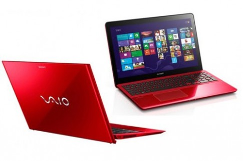 Ultrabook sieu nhe cua Sony co them mau do