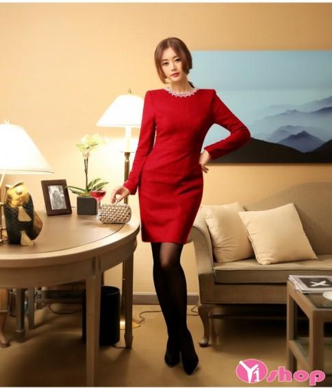Váy đầm liền thân màu đỏ đẹp nổi bật quyến rũ cuốn hút hè 2016