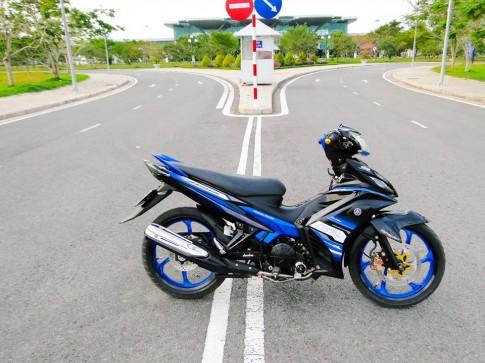 Yamaha Exciter độ xanh đen mạnh mẽ và cá tính
