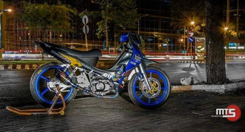 Yamaha Jupiter độ đầy phong cách với phiên bản xe đấu