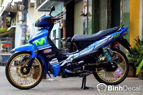 Yamaha Jupiter phien ban Movistar day the thao va phong cach