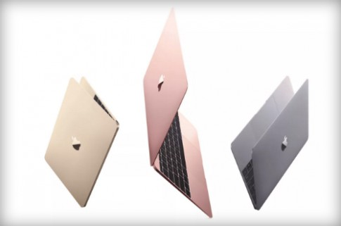 Apple ra MacBook moi mau vang hong giong iPhone 6s