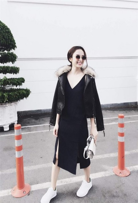 "Mac troi ""do lua"", Angela Phuong Trinh van dien do long, da"