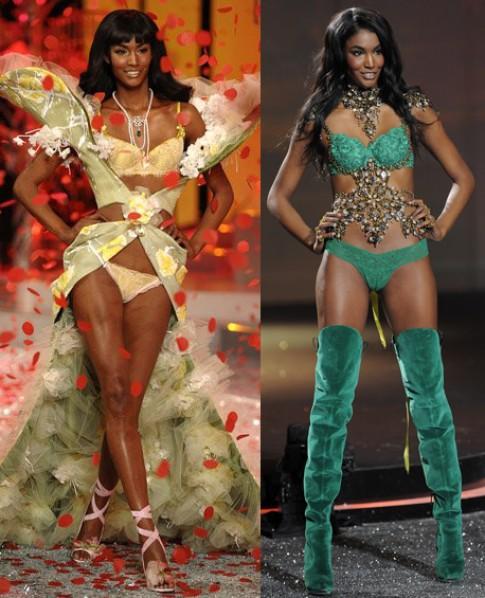 Nguoi mau tung dien Victoria's Secret den Viet Nam catwalk