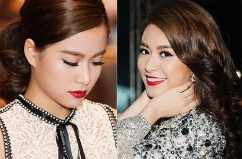Nguyen Thi Huyen, Hoang Thuy Linh trang diem dep nhat tuan