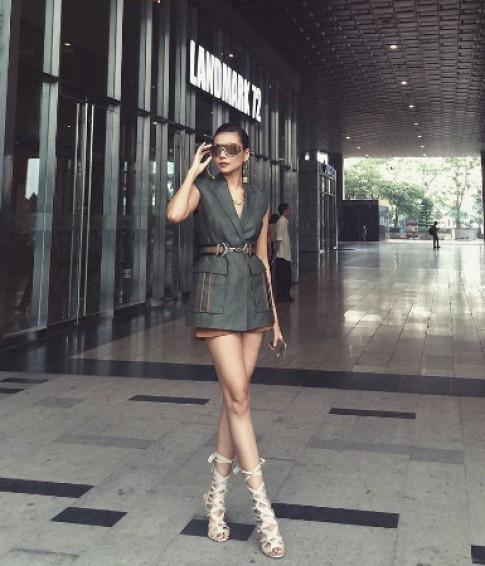 Thanh Hang dien do hieu di cham thi Next Top