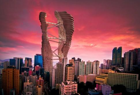 Cao oc co trang trai va ruong lua ngay trung tam Hong Kong