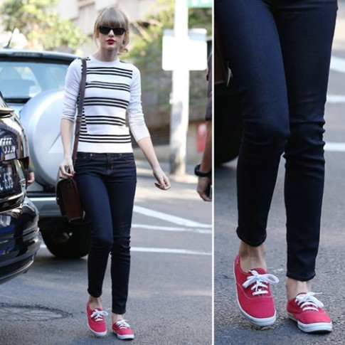 "Ngam nghia nhung mau giay ""dau tay"" cua Taylor Swift"