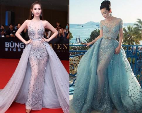 Váy xuyên thấu 10 kg của Ngọc Trinh bị nghi nhái thiết kế nước ngoài