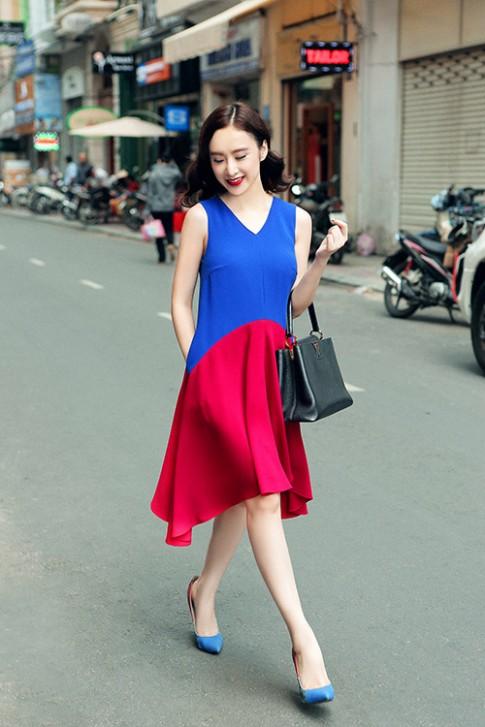 Angela Phuong Trinh dep hut hon voi vay dam sac so