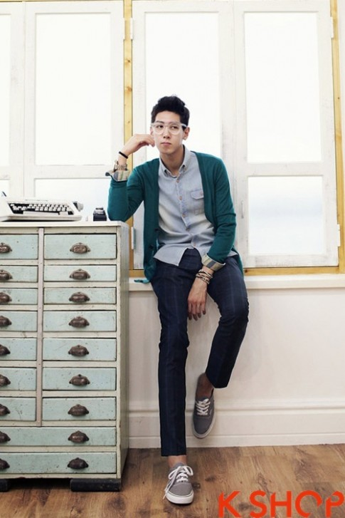 Áo khoác nam cardigan Hàn Quốc đẹp thu đông 2017 không lạnh ấm áp