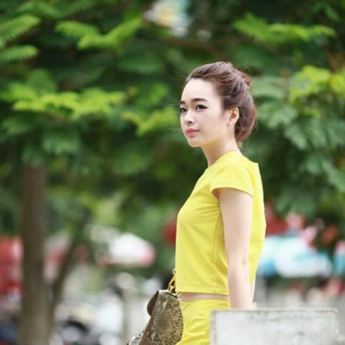 Co gai Ha Thanh da trang, dang xinh va bi quyet don gian