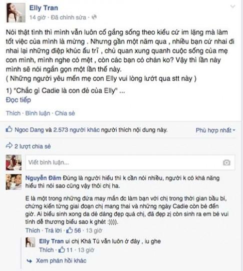 "Elly Tran phan phao chuyen ""Cu lay Tay la con dep nhu no"""