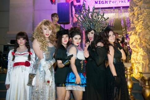 Hoa trang Halloween thu vi nhu sao Viet