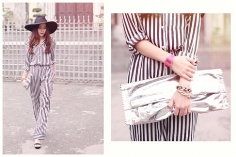 Luu Huong Giang dung style do ngu voi Bang Pham