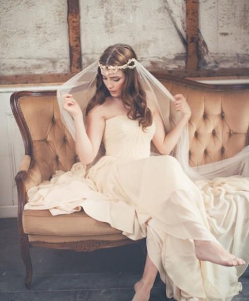 Mũ cưới quyến rũ theo phong cách retro