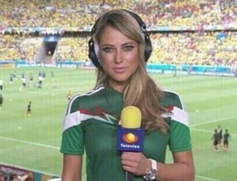 Nu phong vien xinh dep nhat World Cup 2014