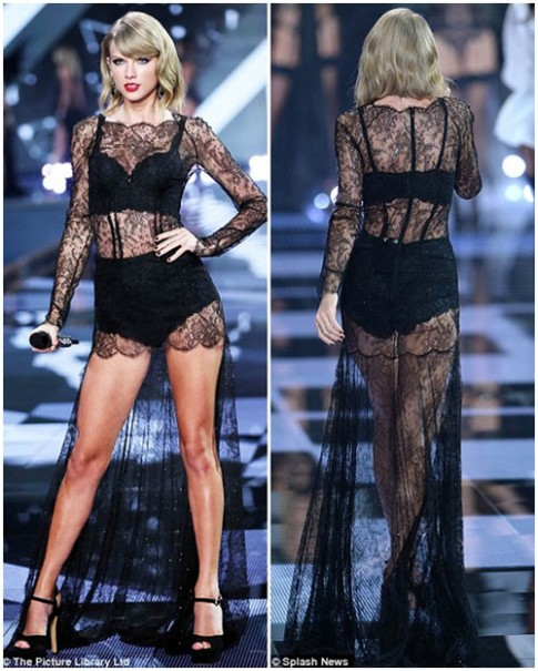 Taylor Swift - thien than thu 9 cua Victoria's Secret Show