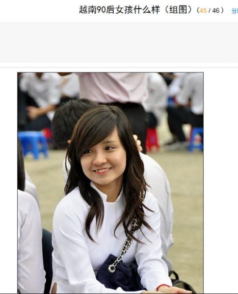 Thiếu nữ Việt được khen đẹp trên trang tin nước ngoài