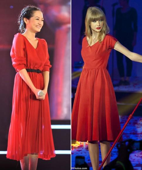 Thoi trang cua Taylor Swift duoc sao Viet men mo