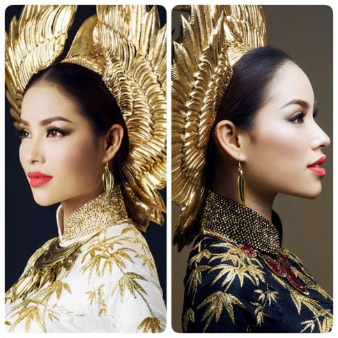 Thuận Việt mất ăn mất ngủ vì trang phục dân tộc của Phạm Hương