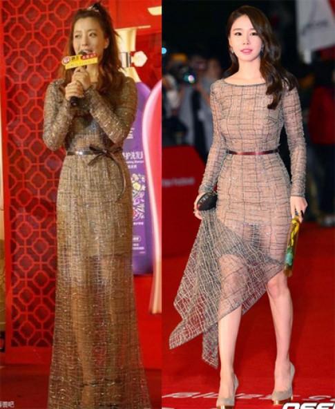 Kim Hee Sun kem sang vi mac loi chon do, trang diem