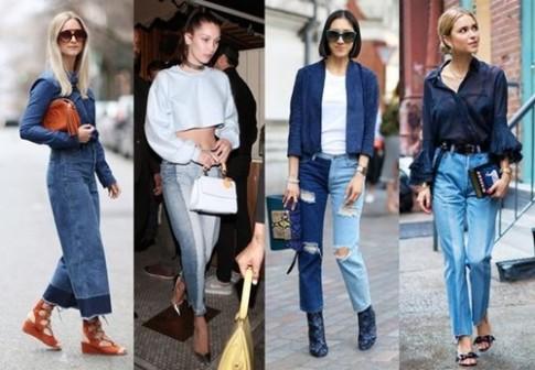 """Quan jeans 2 mau: xu huong moi """"cuc chat"""" trong mua he"""
