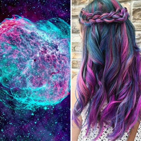 'Sang chảnh' hơn với mốt tóc nhuộm galaxy đầy màu sắc