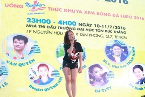 Van Quyen bat ngo khi duoc hot girl Quynh Nhi than tuong