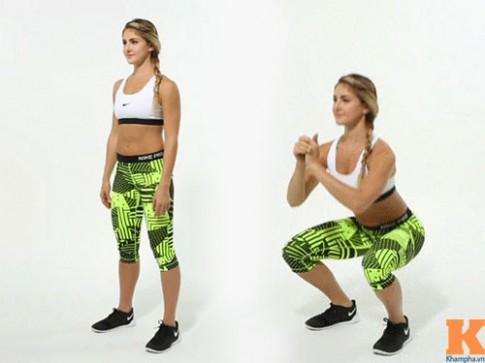12 tư thế squat cho vòng ba nở nang sau một tháng