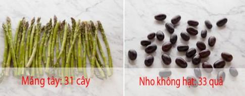 20 loai thuc pham va lieu luong de ban chi nap 100 calories
